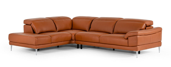 Accenti Italiani New York - Modern Cognac Leather Sectional Sofa VGDDNEW-YORK By VIG Furniture