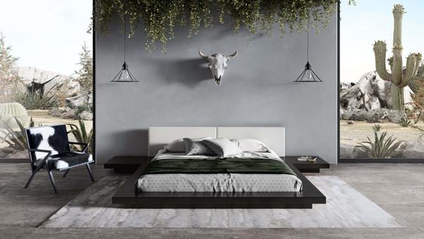 Modrest Tokyo - Contemporary Black And White Platform Bed VGMABR-90-BLK-WHT By VIG Furniture