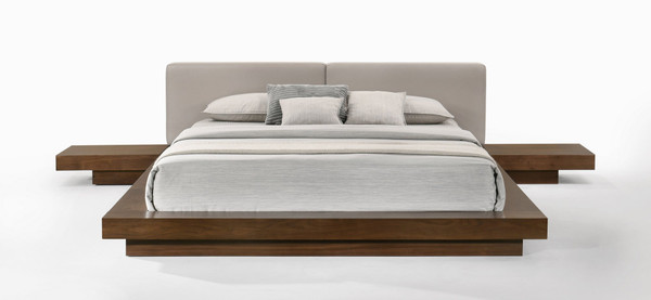 Modrest Tokyo - Contemporary Walnut And Grey Platform Bed VGMABR-90-WAL-GRAY By VIG Furniture