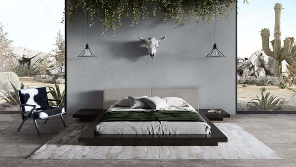 Modrest Tokyo - Contemporary Black And Grey Platform Bed VGMABR-90-BLK-GRAY By VIG Furniture