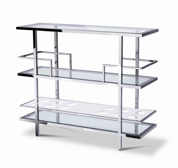 Modrest Cunning - Modern Glass And Stainless Steel Wine Rack VGHB02W By VIG Furniture