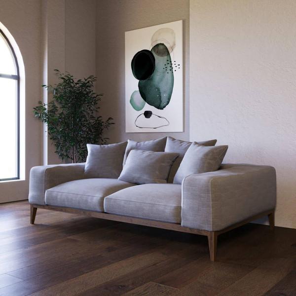 Divani Casa Corina - Modern Grey Linen Loveseat VGUIMY694-L By VIG Furniture