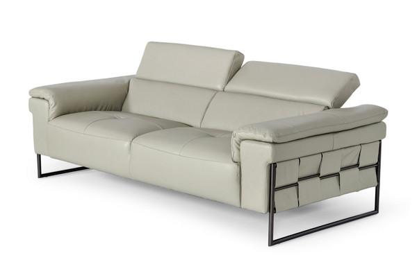 Divani Casa Shoden - Modern Light Grey Leather Loveseat VGEV1858-L By VIG Furniture