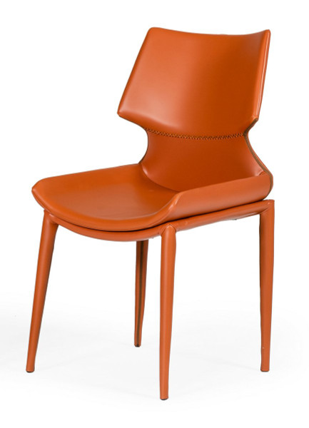 Modrest Helwig - Contemporary Cognac Eco-Leather Dining Chair (Set Of 2) VGHR3555 By VIG Furniture