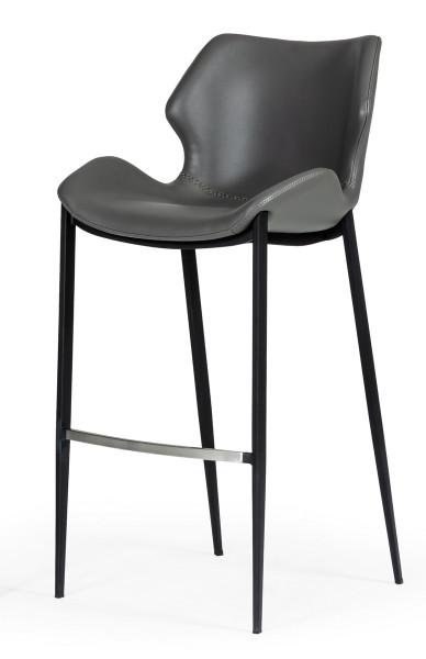 Modrest Ithaca - Industrial Grey Eco-Leather Bar Stool (Set Of 2) VGHR5409B By VIG Furniture