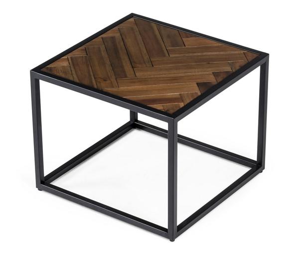 Modrest Pasada - Industrial Brown Acacia End Table VGWH183720101 By VIG Furniture