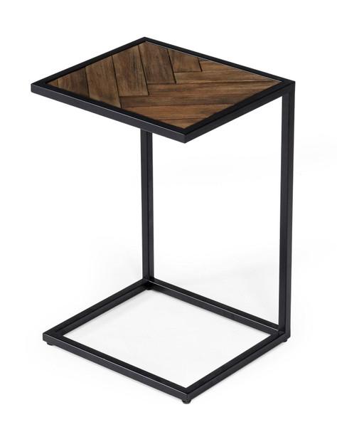 Modrest Pasada - Industrial Brown Acacia Laptop End Table VGWH183720701 By VIG Furniture