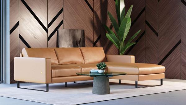 Accenti Italia Shine Italian Modern Cognac Sectional VGDDSHINE By VIG Furniture
