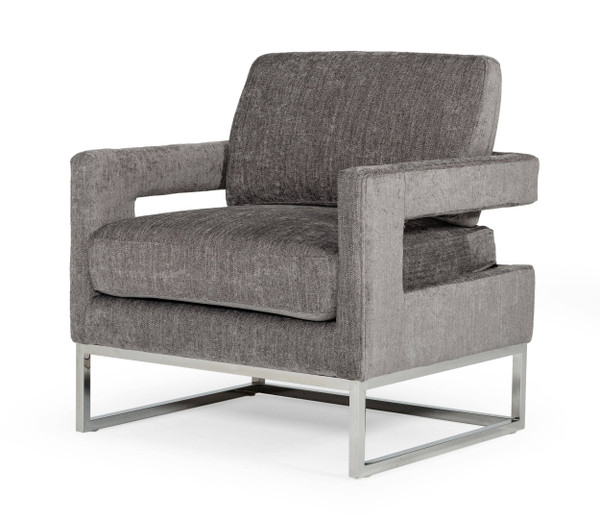 Modrest Edna - Modern Dark Grey Fabric Accent Chair VGRHRHS-AC-201-GRY By VIG Furniture