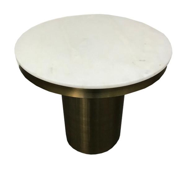 Modrest Rocky - Glam White & Gold End Table VGGMM-ET-1360A By VIG Furniture