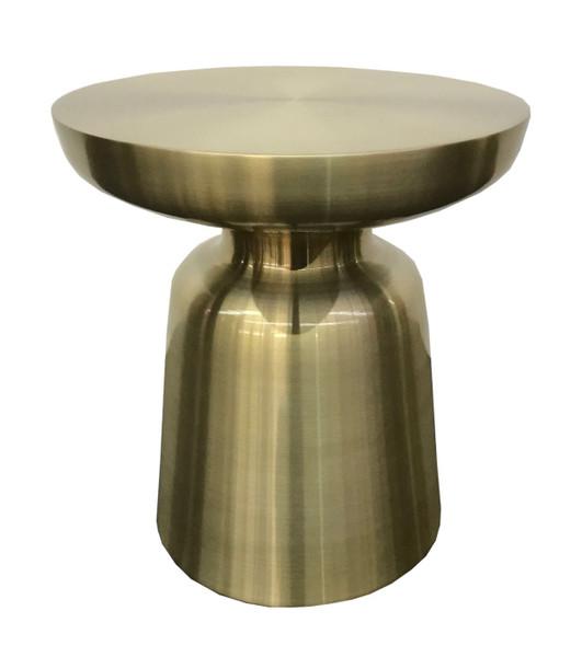 Modrest Peter - Glam Gold End Table VGGMET-1432A By VIG Furniture