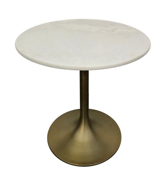Modrest Collins - Glam White Marble & Gold End Table VGGMM-ET-1089A By VIG Furniture