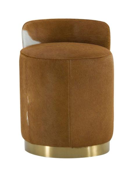 Modrest Belvista - Modern Brown Cowhide Ottoman VGODL-096-OTT By VIG Furniture