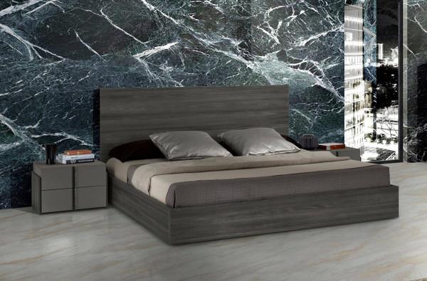 Nova Domus Lucia Italian Modern Matte Grey / Elm Grey Bed VGACLUCIA-GRY-BED By VIG Furniture