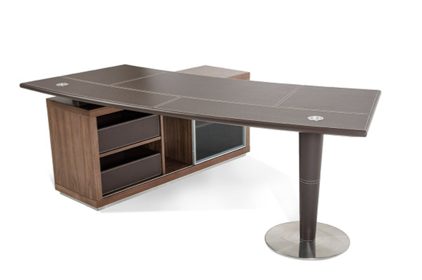 Modrest Lincoln - Modern Office Desk And Side Storage Cabinet By VIG Furniture