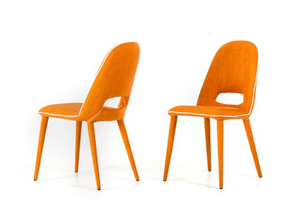 Modrest Eugene Modern Orange Fabric Dining Chair Set Of 2 VGEUMC-8161CH By VIG Furniture