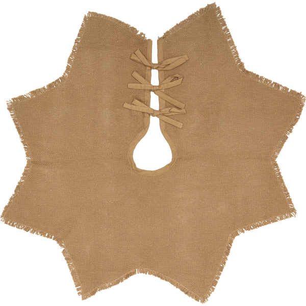VHC Burlap Natural Mini Tree Skirt 21 12068