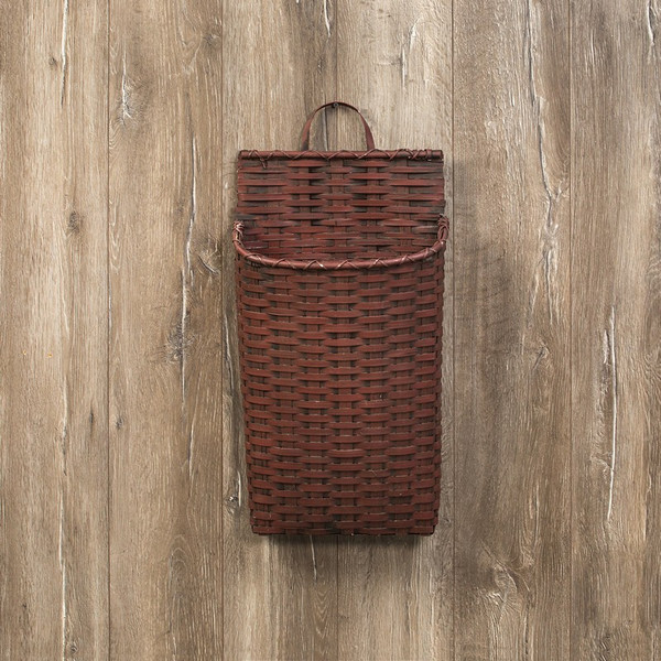 Ragon Red Wide Wall Basket (Pack Of 2) L169503