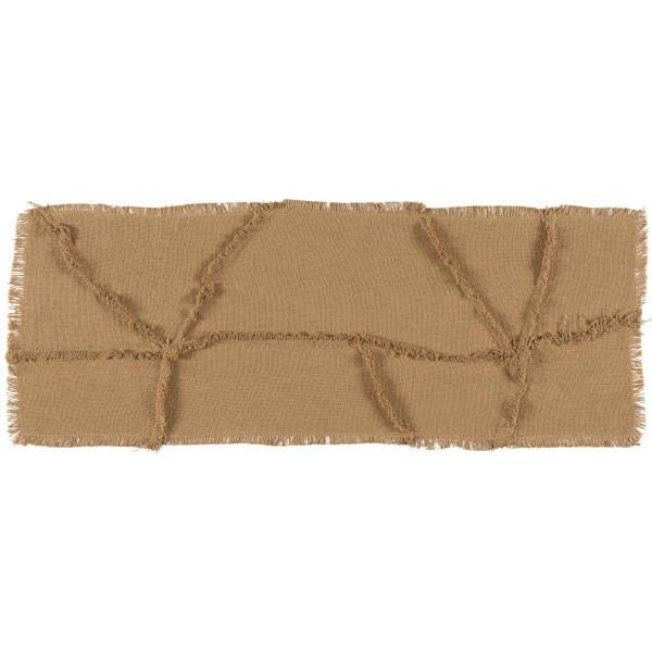 VHC Burlap Natural Reverse Seam Patch Runner 13X36 18326