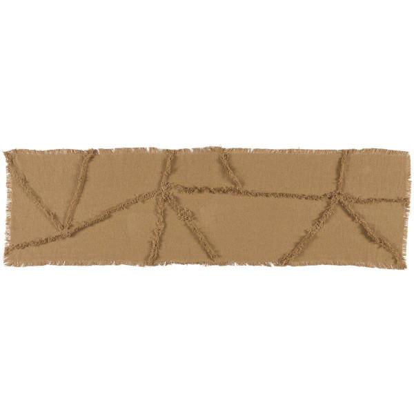 VHC Burlap Natural Reverse Seam Patch Runner 13X48 18327