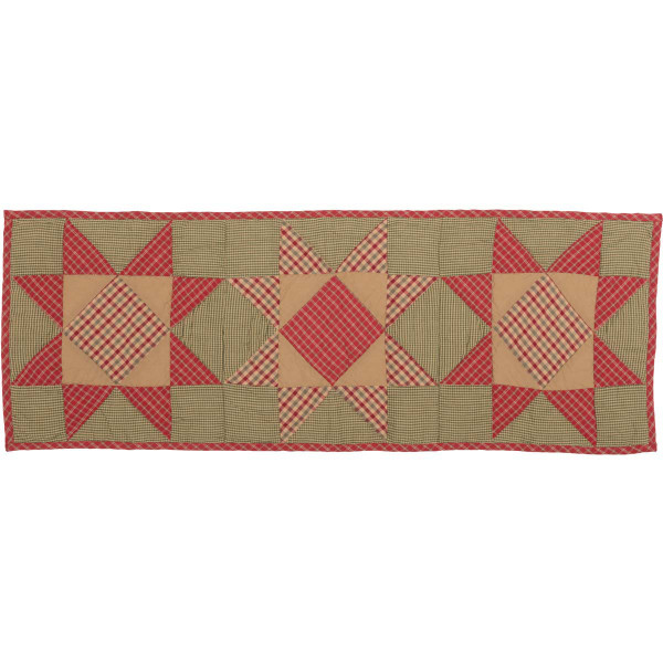 VHC Dolly Star Quilted Runner 13X36 42486