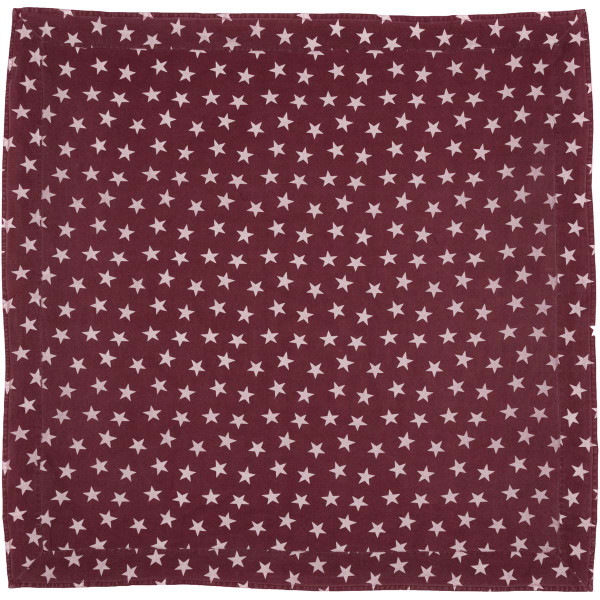 VHC Multi Star Red Table Cloth 60X60 16083