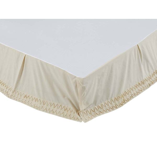 VHC Adelia Creme King Bed Skirt 78X80X16 29172