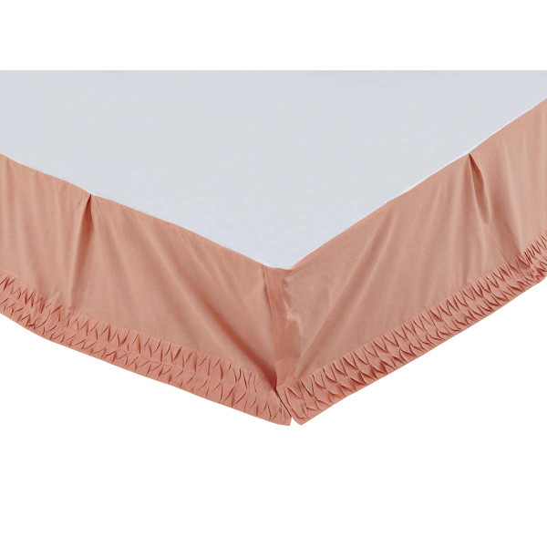 VHC Adelia Apricot Twin Bed Skirt 39X76X16 29184