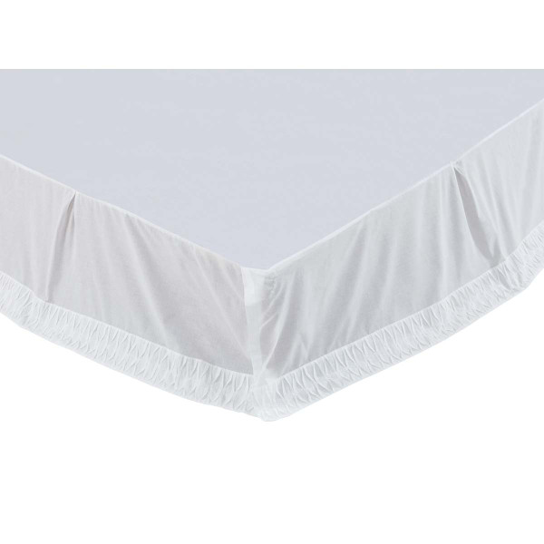 VHC Adelia White Queen Bed Skirt 60X80X16 29163