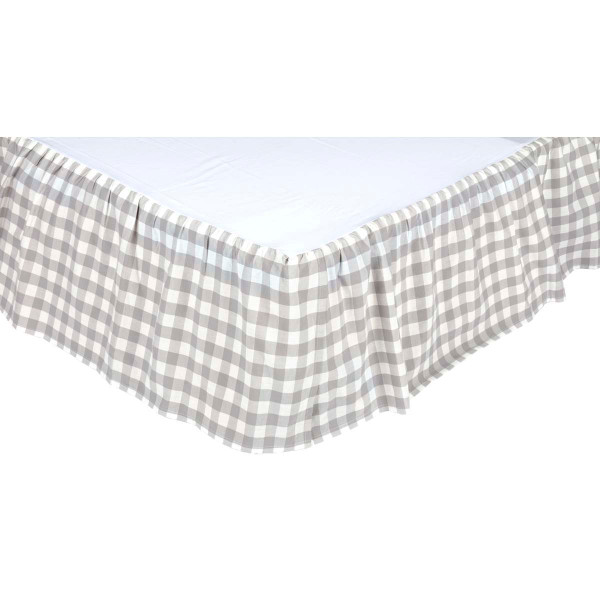 VHC Annie Buffalo Grey Check Twin Bed Skirt 39X76X16 40411