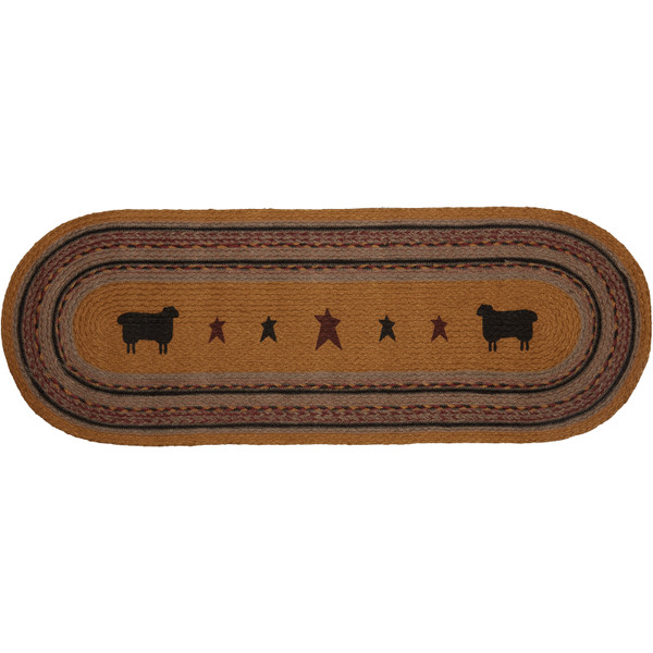 VHC Heritage Farms Sheep Jute Runner 13X36 37912