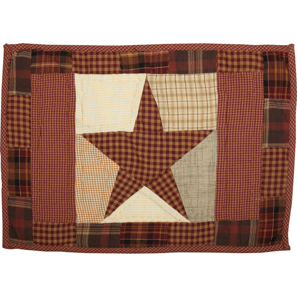 VHC Abilene Star Quilted Placemat Set Of 6 12X18 30614