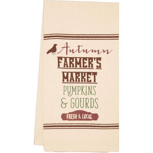 VHC Farmer'S Market Harvest Muslin Unbleached Tea Towel Set Of 2 19X28 65288