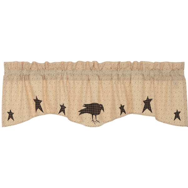 VHC Kettle Grove Applique Crow And Star Valance 16X60 45793