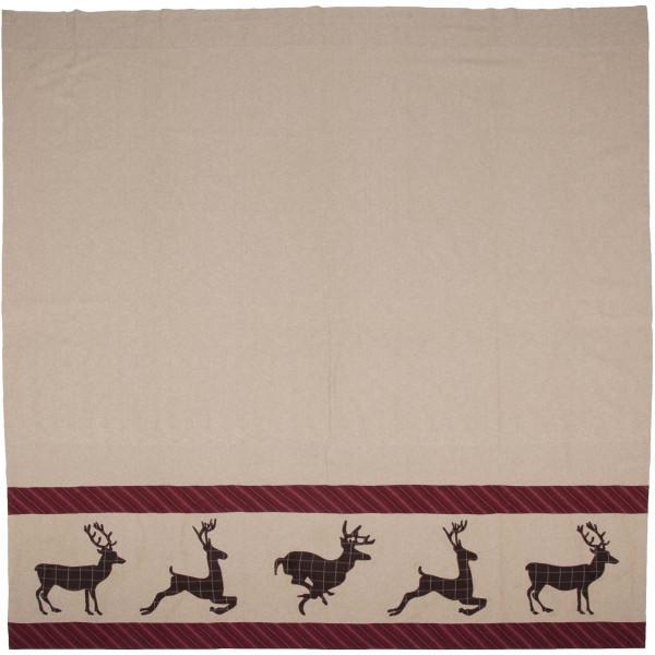VHC Wyatt Deer Shower Curtain 72X72 34328