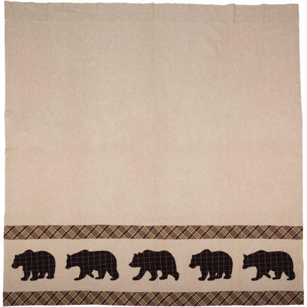 VHC Wyatt Bear Shower Curtain 72X72 34327