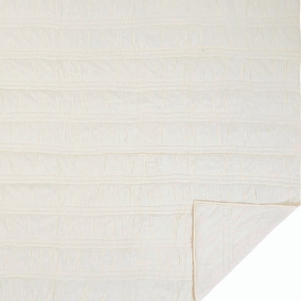 VHC Natasha Pearl White Twin Set; Quilt 68Wx86L-1 Sham 21X27 29885