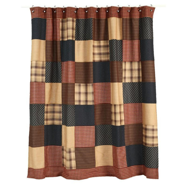 VHC Patriotic Patch Shower Curtain 72X72 - 7732