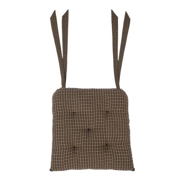 VHC Kettle Grove Plaid Chair Pad 15X15 - 7173