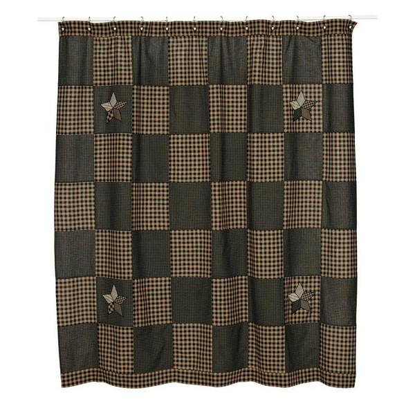 VHC Farmhouse Star Shower Curtain 72X72 - 6699
