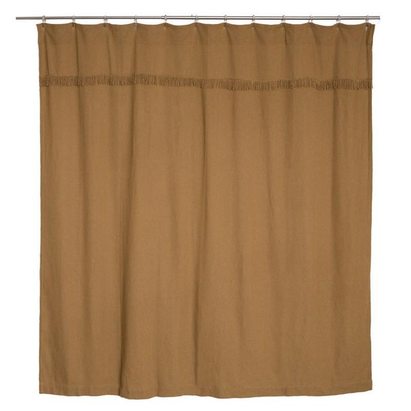 VHC Burlap Natural Shower Curtain Unlined 72X72 - 6172