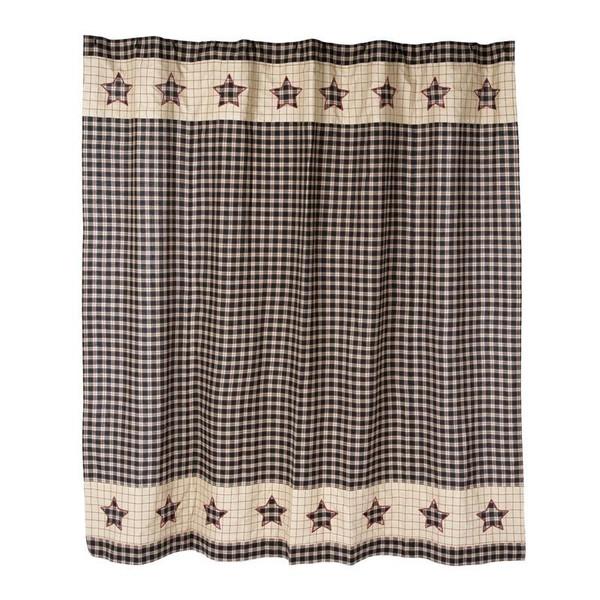 VHC Bingham Star Shower Curtain 72X72 - 5931