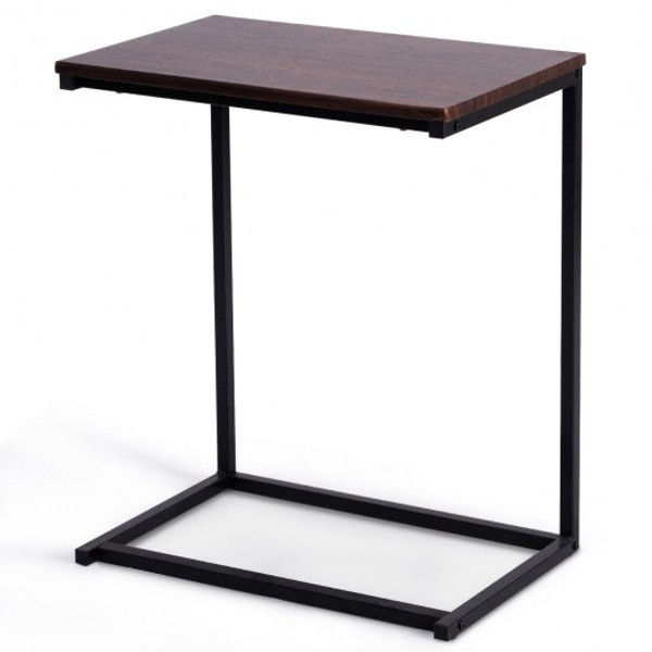 "HW65595CF 26"" Beside Sofa Laptop Holder End Stand Desk-Coffee"