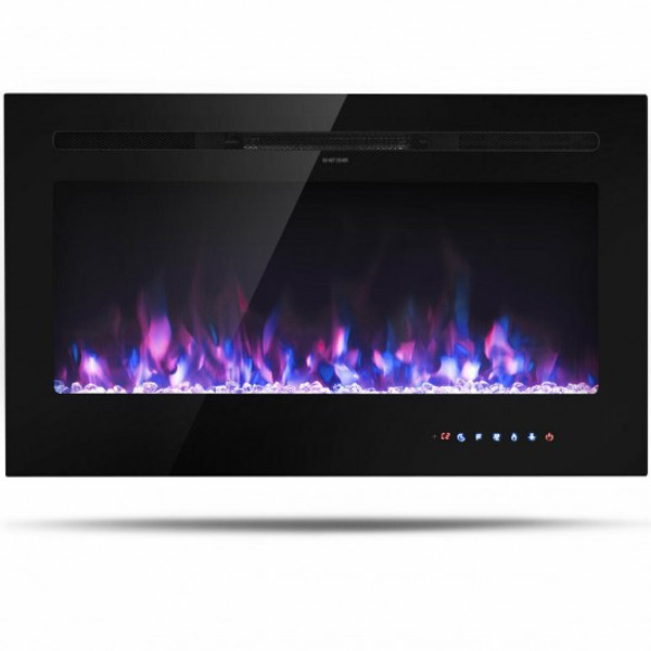 "EP24725US 36 "" Electric Wall Mounted Fireplace With Multicolor Flame"