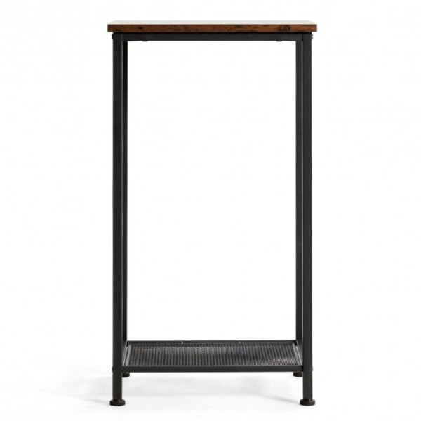 HW65664 2-Tier Industrial Side End Accent Telephone Table