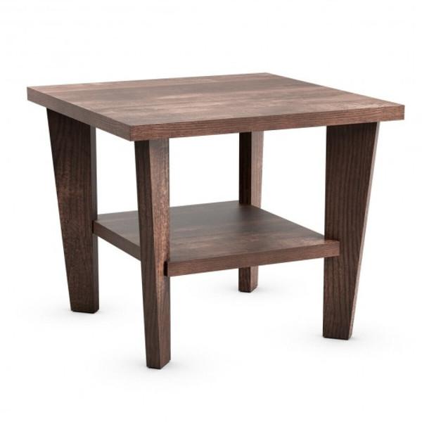 HW65204 2-Tier Nightstand Space-Saving Side Sofa End Table