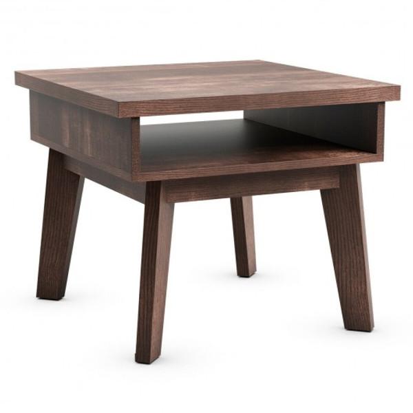 HW65205 2-Tier Nightstand Space-Saving Side Sofa End Table