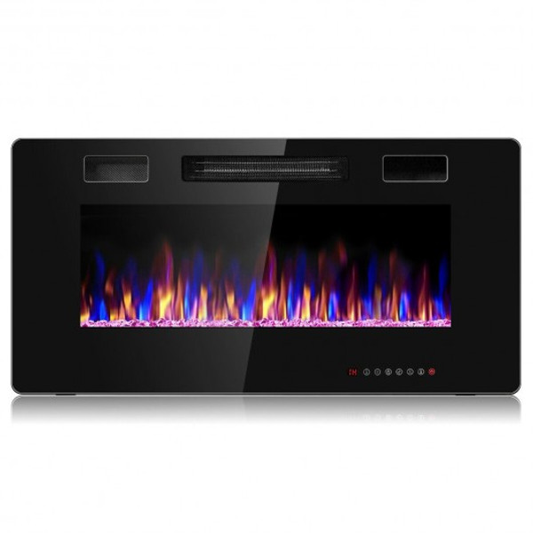 """EP24703 36"""" Recessed Ultra Thin Wall Mounted Electric Fireplace"""
