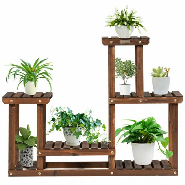GT3514 Solid Wood Plant Stand Multi Layer Plant Pot Holder
