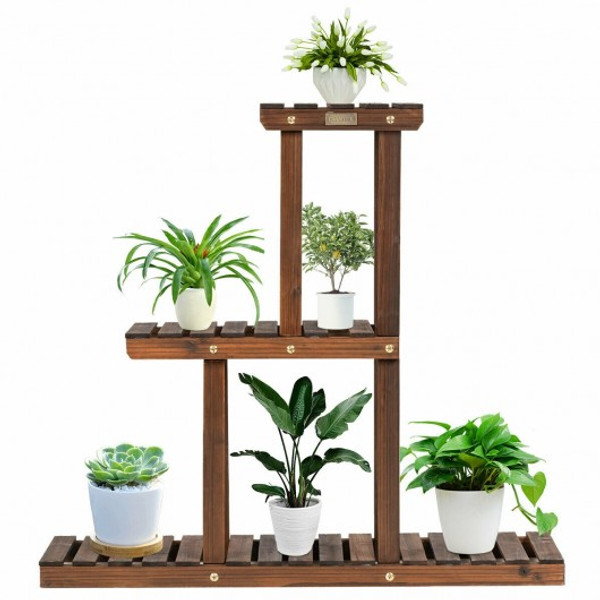 GT3518 Wood Plant Stand 3-Tier Plant Pot Holder